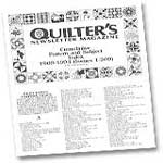 Subscribe to Quilters Newsletter Magazine here!